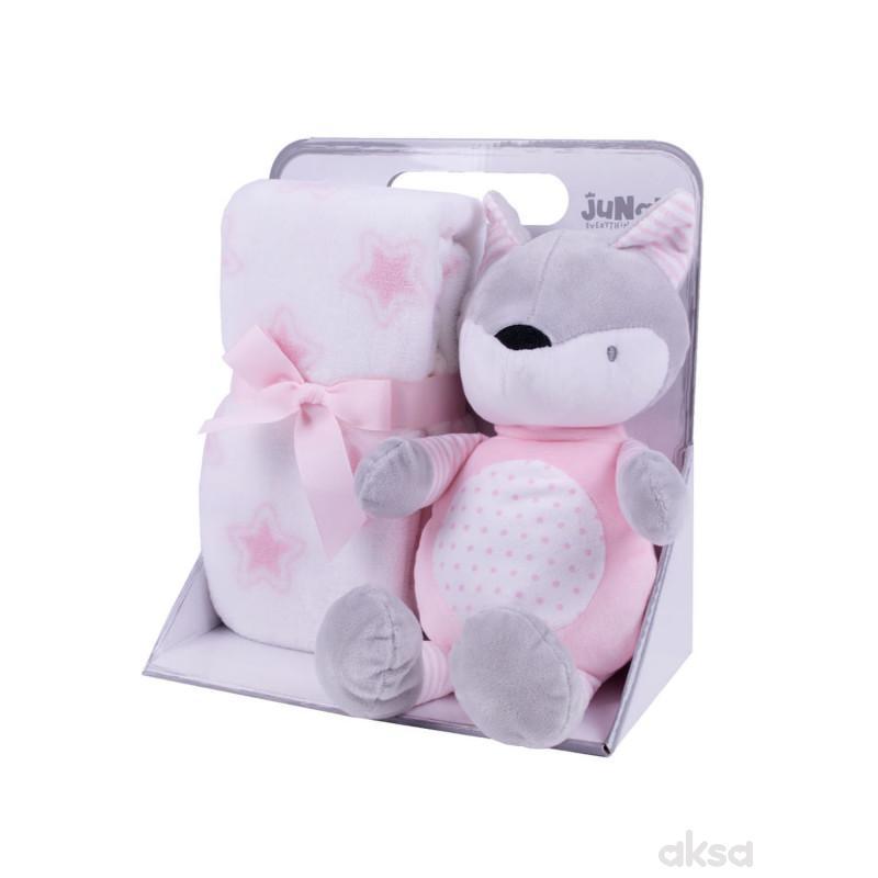 Jungle ćebe sa igračkom,roze