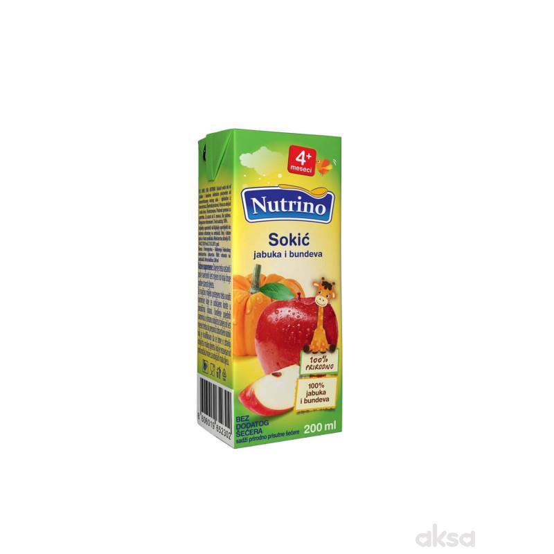 Nutrino sokić jabuka i bundeva 200 ml