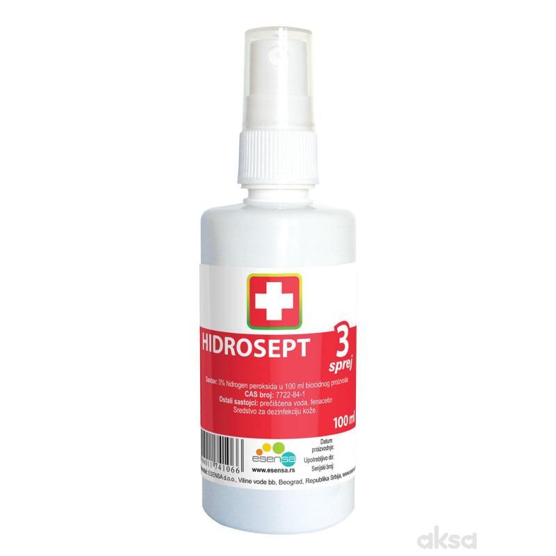 Hidrosept rastvor hidrogen peroksida sprej,100 ml