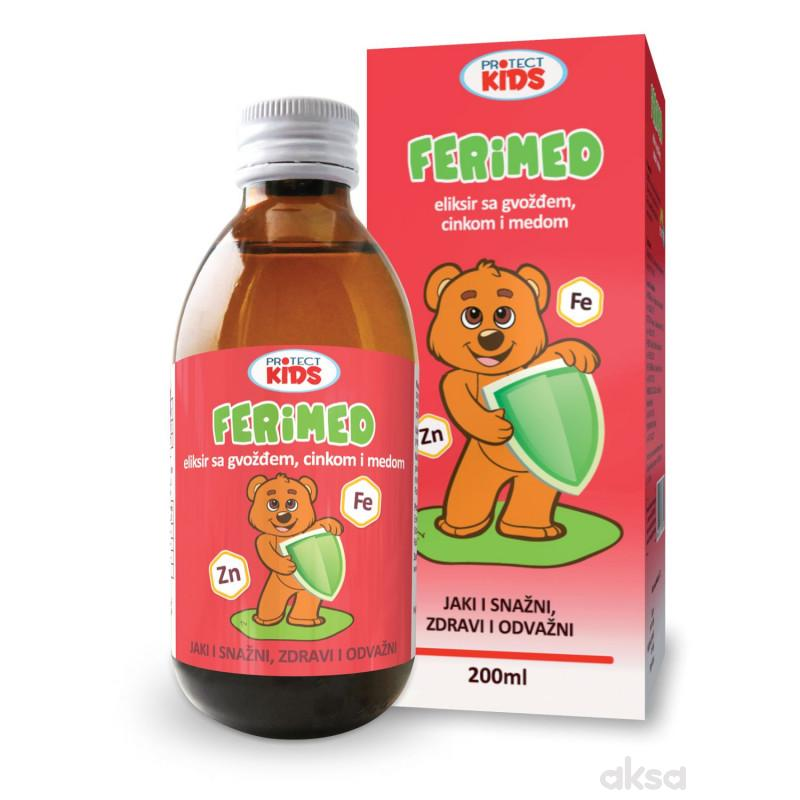 Protect Kids, Ferimed eliksir sa Fe,Zn i med,200ml