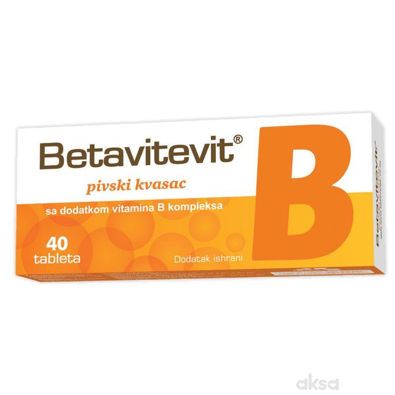 Betavitevit B pivski kvasac sa vita B,tablete,40/1