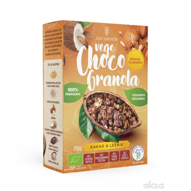 Superior vege choco granola namaz 250g