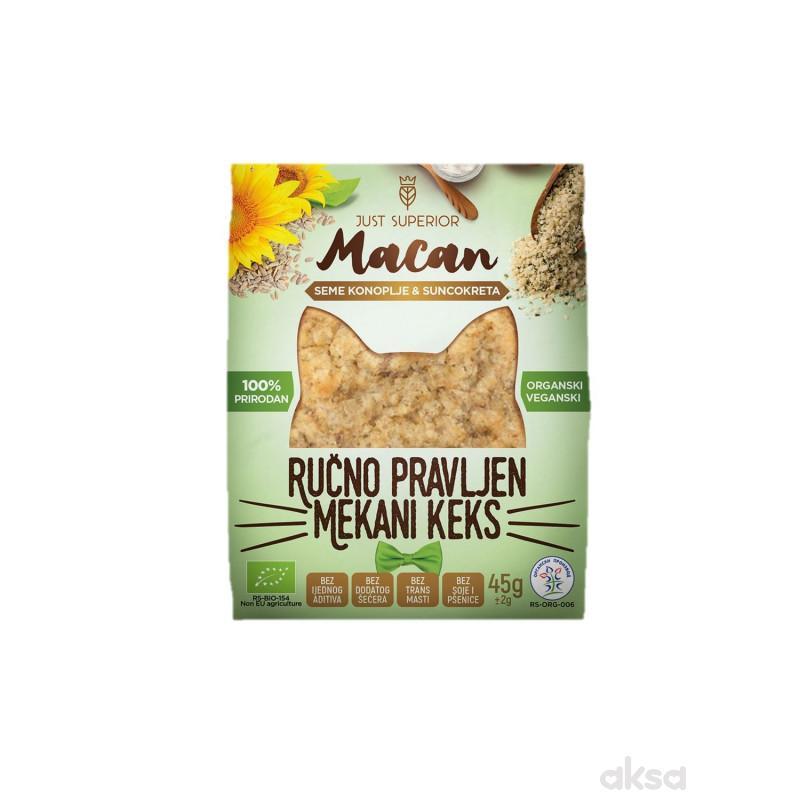Superior keks seme konoplje i suncokret Macan 45g