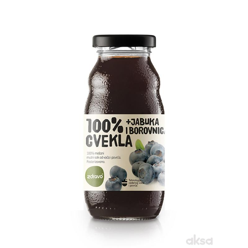 Zdravo Organic sok cvekla i borovnica 200ml