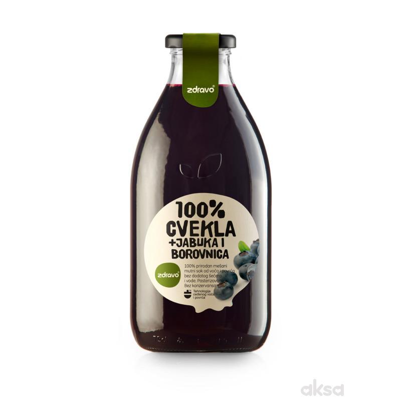 Zdravo Organic sok od cvekle i borovnice 750ml