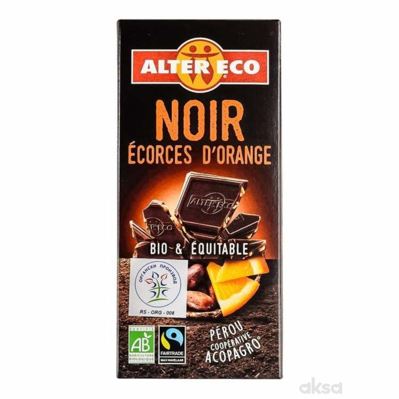 Alter Eco crna čokol.sa kom. kore pomorandže 100g