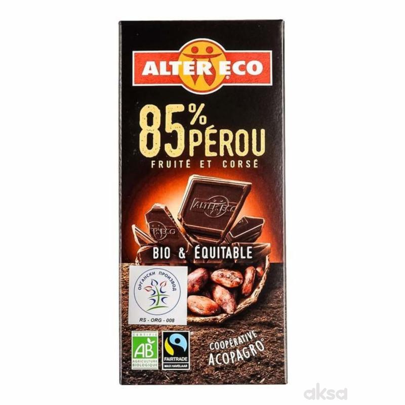 Alter Eco crna čokolada 85% peru 100g