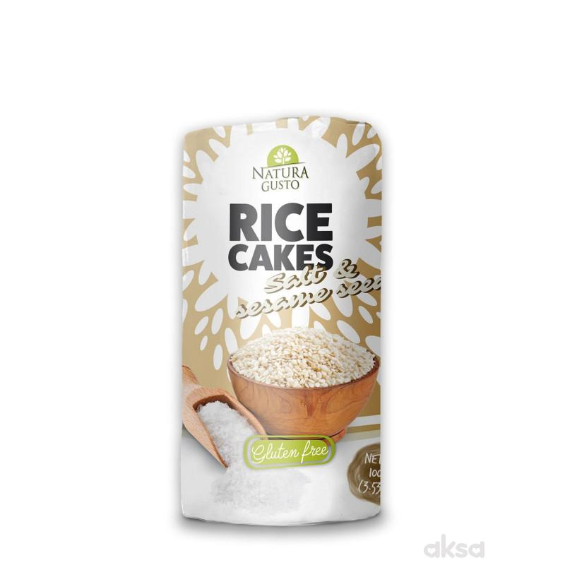 Natura Gusto pirinčane galete so i susam 100g