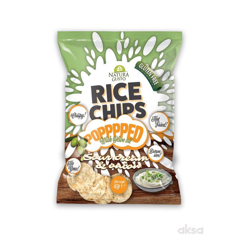 Natura Gusto pirinčani čips pavlaka i luk 45g