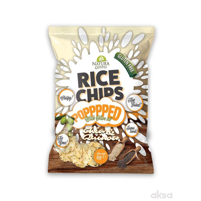 Natura Gusto pirinčani čips chia i kinoa 45g