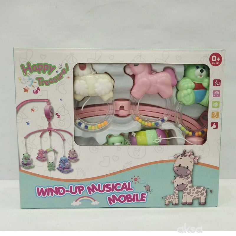 HK Mini muzička vrteška vesele životinjice