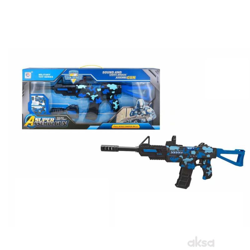 HK Mini puška sa zvukovima i svetlom, plava 1