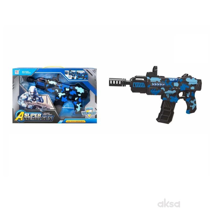 HK Mini puška sa zvukovima i svetlom, plava 2