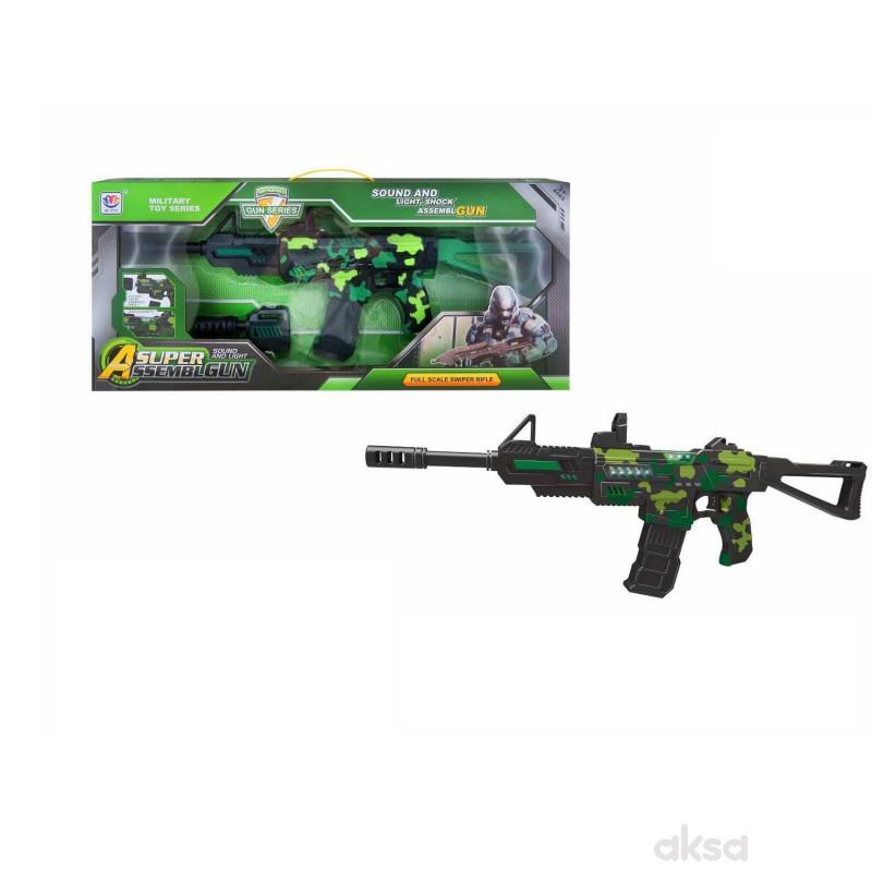 HK Mini puška sa zvukovima i svetlom, zelena 1