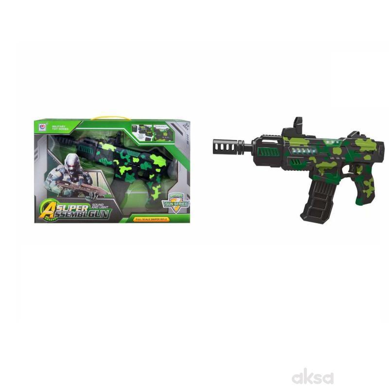 HK Mini puška sa zvukovima i svetlom, zelena 2