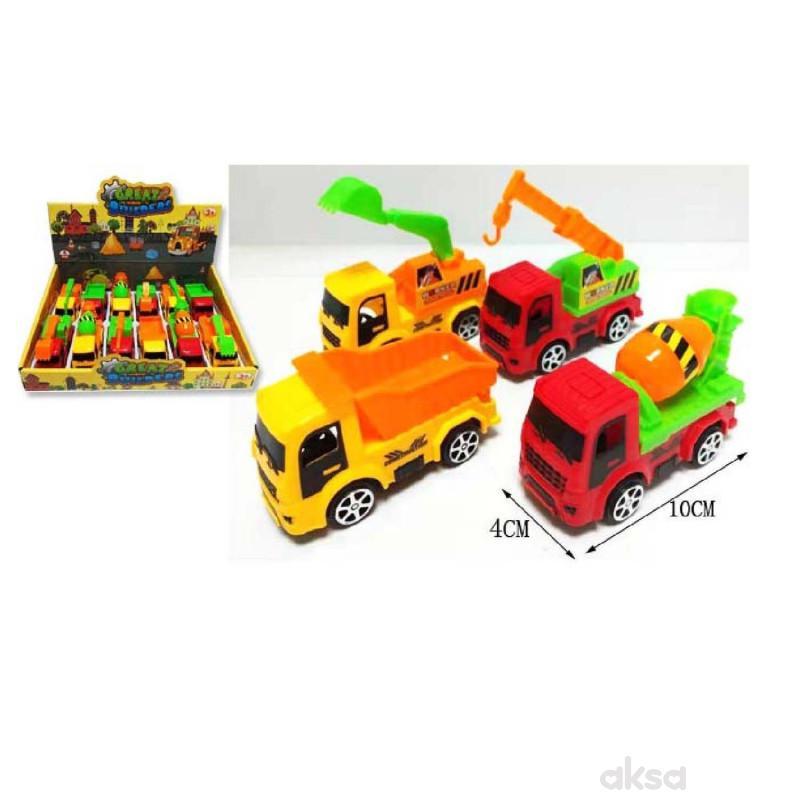 HK Mini igračka građevinski auto, displej 12 kom