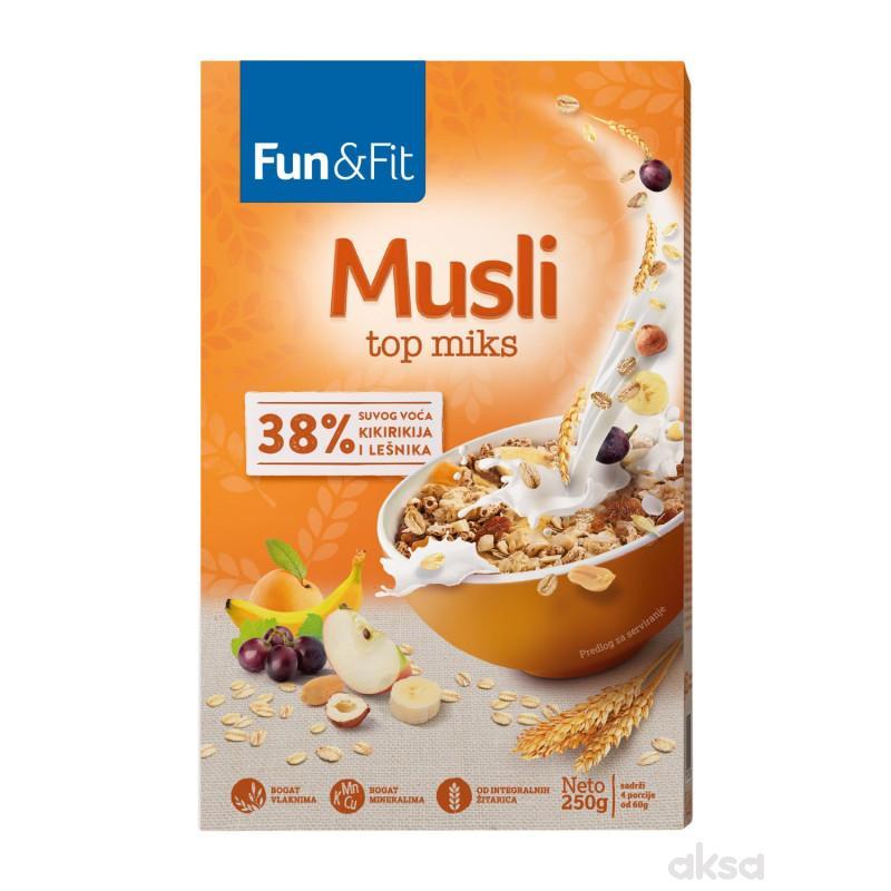 Fun&fit musli top 10 vitamina 250gr
