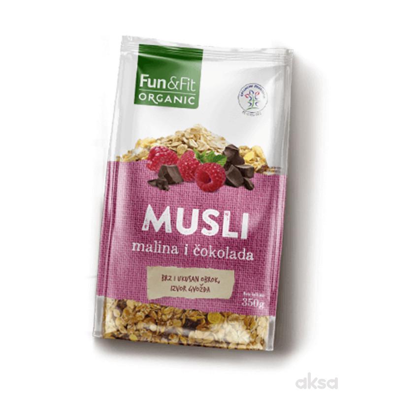 Fun&fit organik musli malina i čokolada 350g