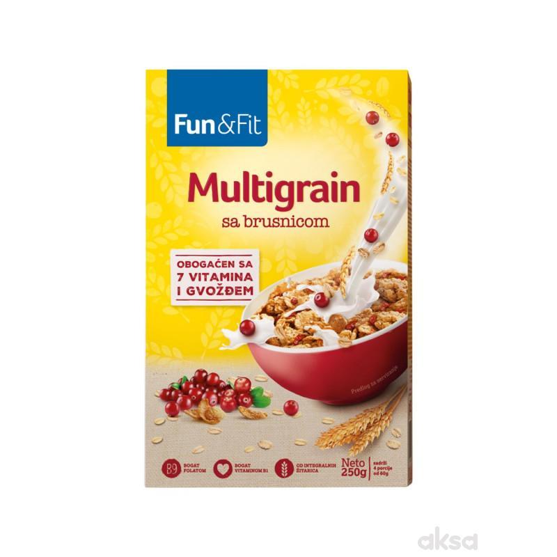 Fun&fit musli multigrain brusnica 250g