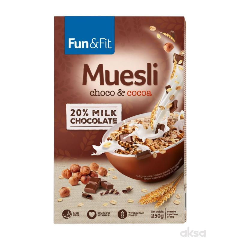 Fun&fit musli čoko+kakao 250g