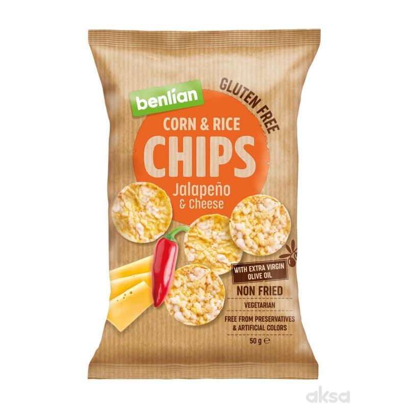 Benlian čips halapenjo  lj.paprika i sir 50g