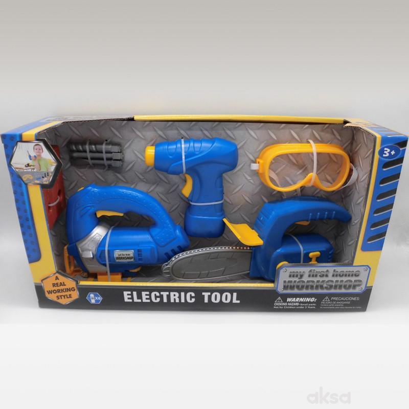 HK Mini igračka set alat sa burgijom i naočarima