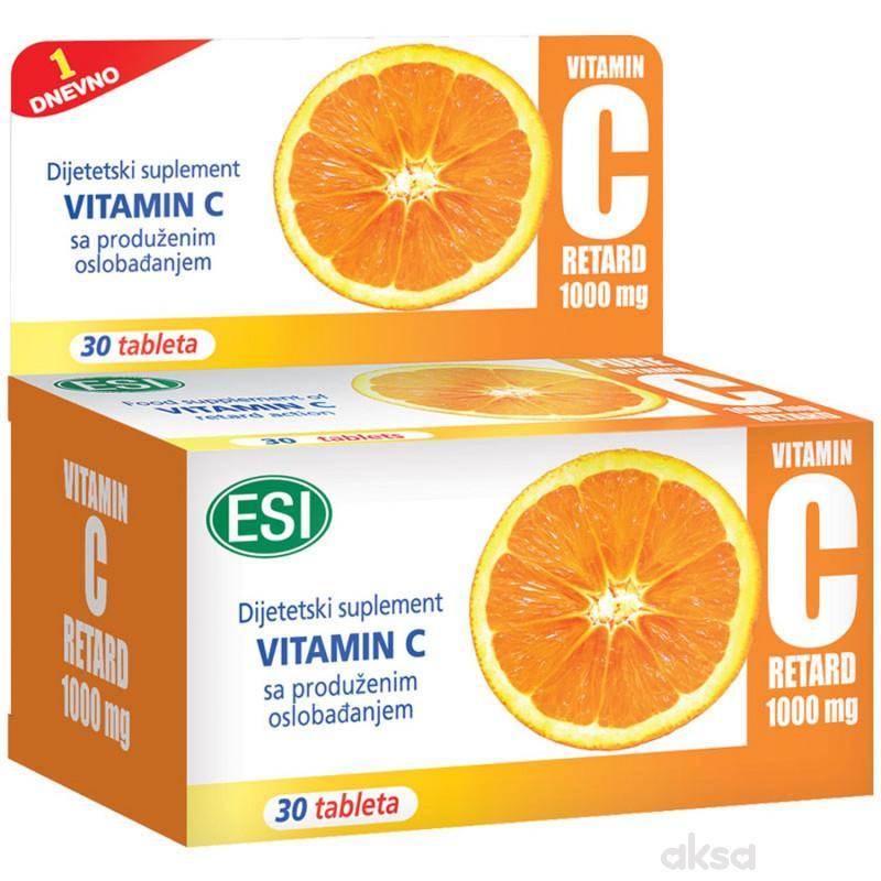 ESI Vitamin C retard tablete 30x1000 mg