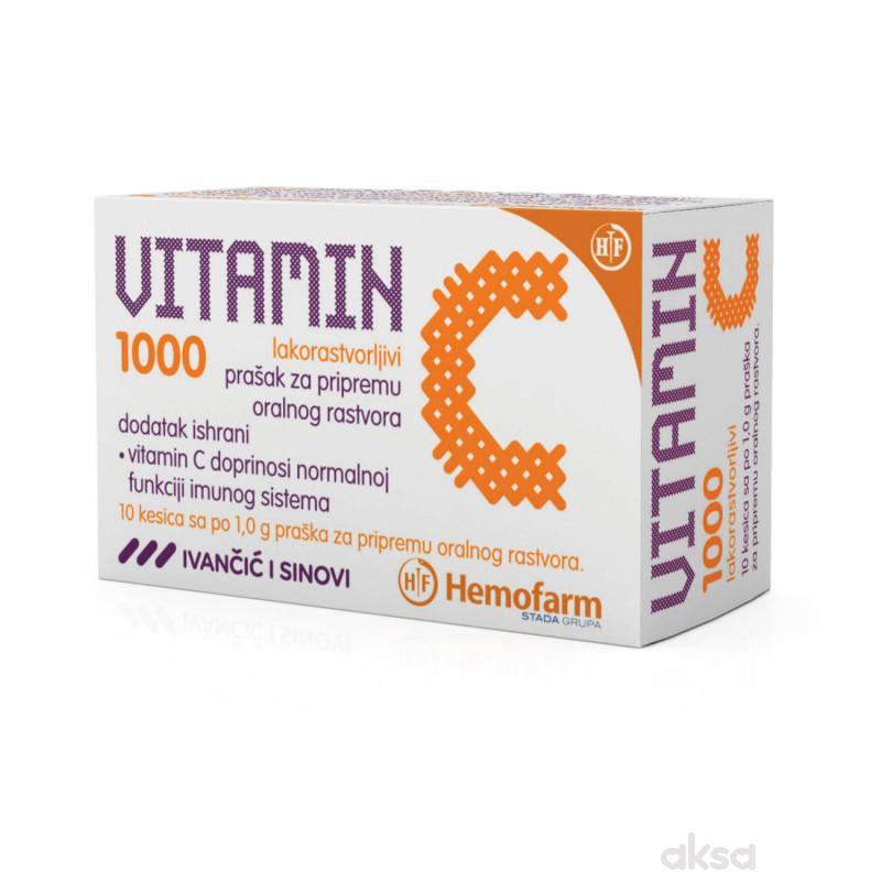 Vitamin C 1000mg prašak 10/1 kesica