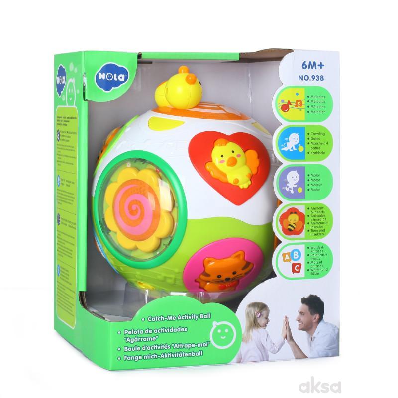 Huile toys igračka zanimljiva lopta sa muzikom