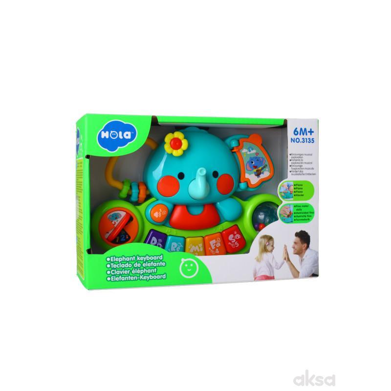 Huile toys igračka tastatura slonče sa muzikom