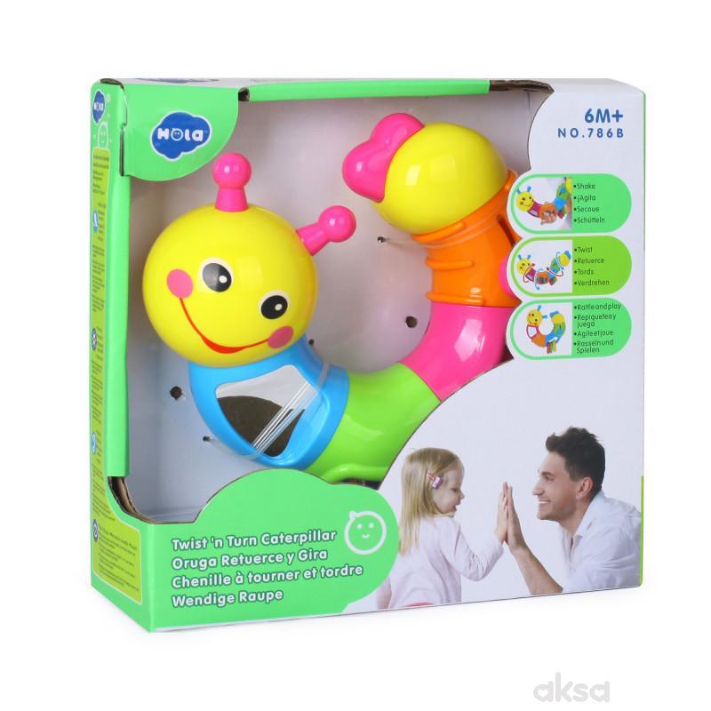 Huile toys igračka zvečka gusenica
