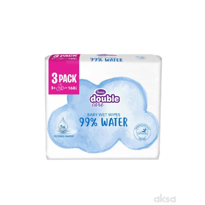 Violeta baby vlažne maramice water care 3x56kom