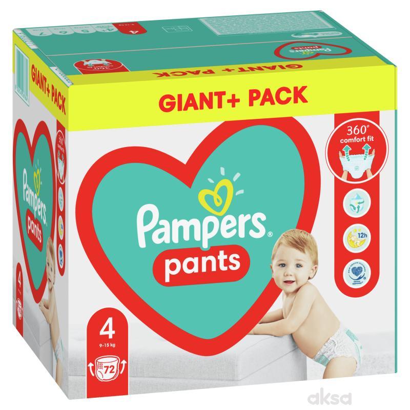 Pampers pants pelene GPP 4 maxi 9-15kg 72kom