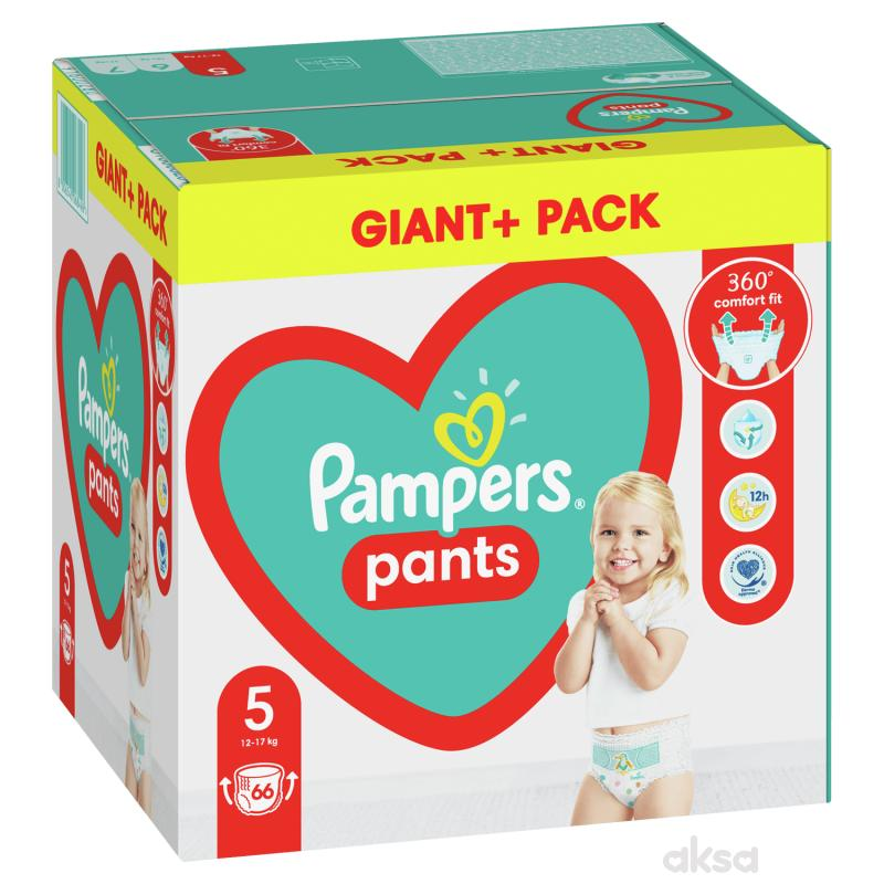 Pampers pants pelene GPP 5 junior 12-17kg 66kom