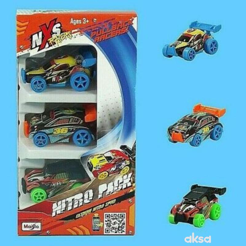 Maisto igračka NXS trkački automobil, 3 kom