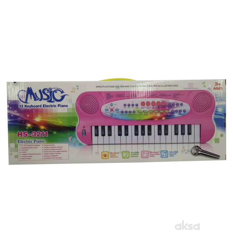 HK Mini igračka sintisajzer roze