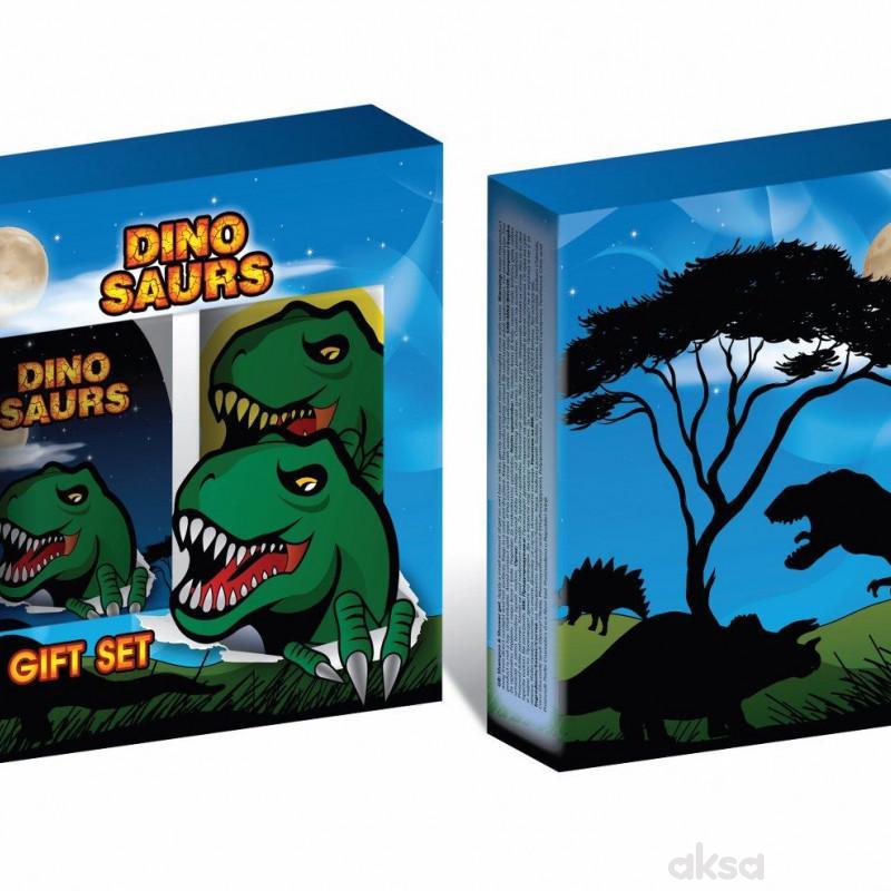 Dinosaurs set kupka 300ml i sunđer za kupanje