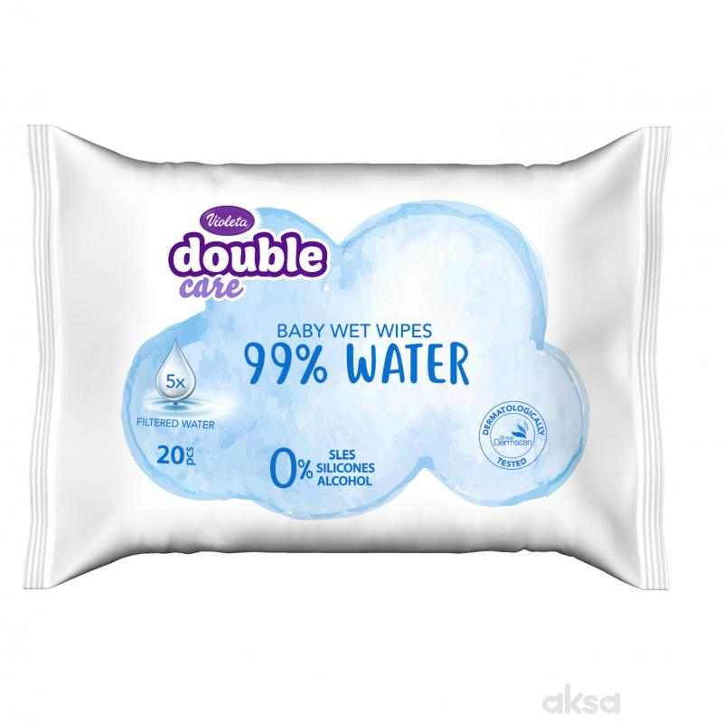 Violeta baby vlažne maramice water care 20kom