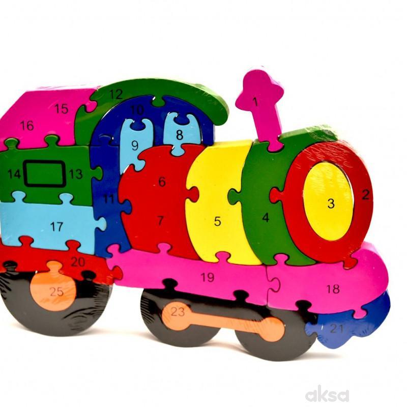 Cigioki Interaktivna igracka puzzle drvene -vozic
