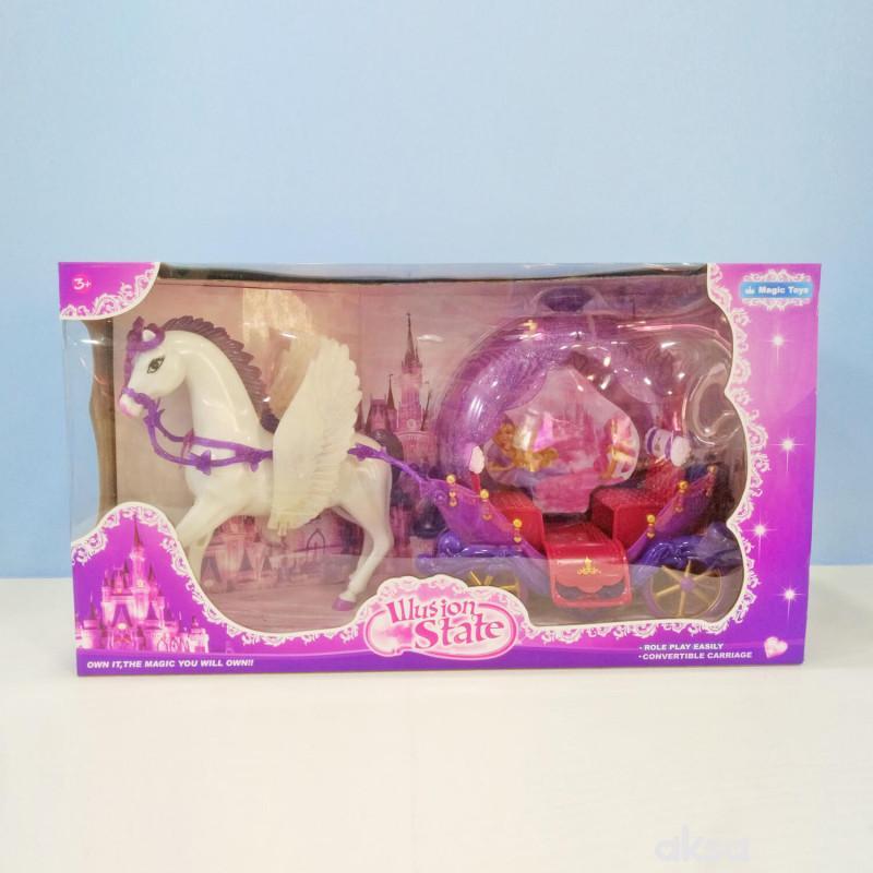 HK Mini igračka kočija za princeze, roze