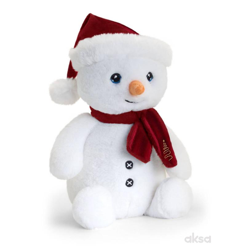 Keel Toys plišana igračka Sneško sa šalom, 25 cm