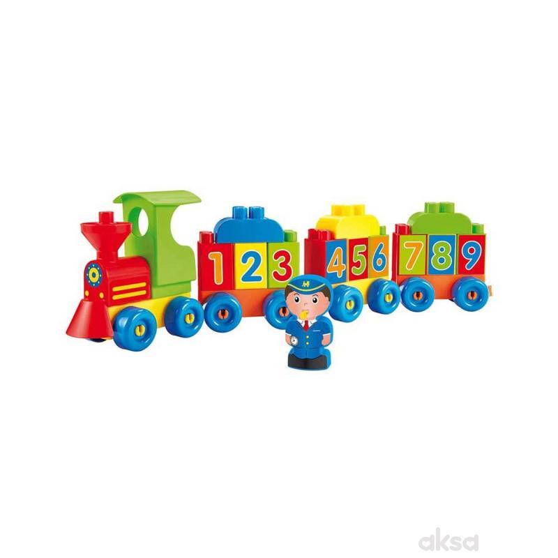 Ecoiffier lokomotiva slova i brojevi