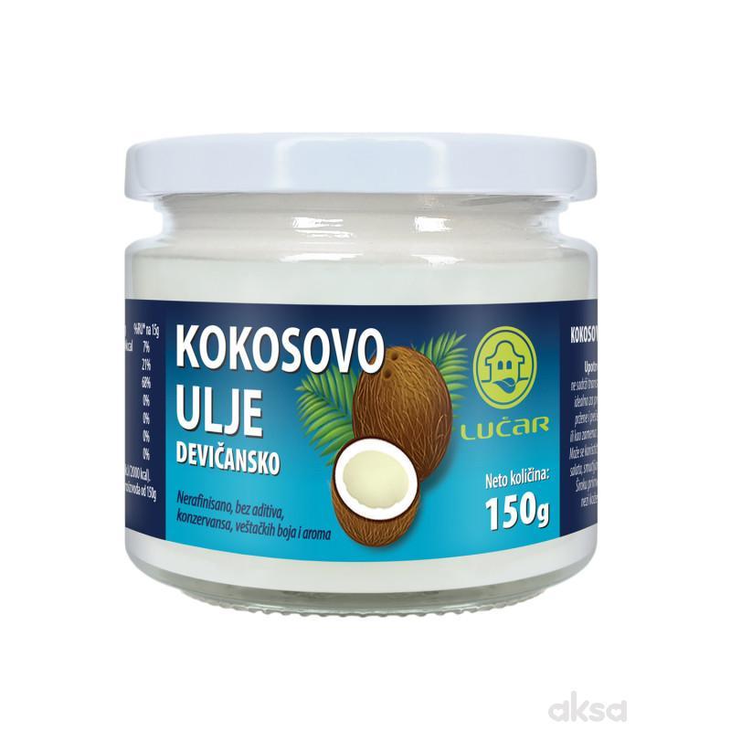 Lučar kokosovo ulje hl. ceđeno devičansko 150g
