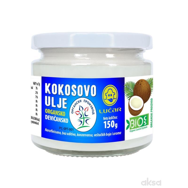 Lučar organsko kokosovo ulje hl.ceđ.devič. 150g