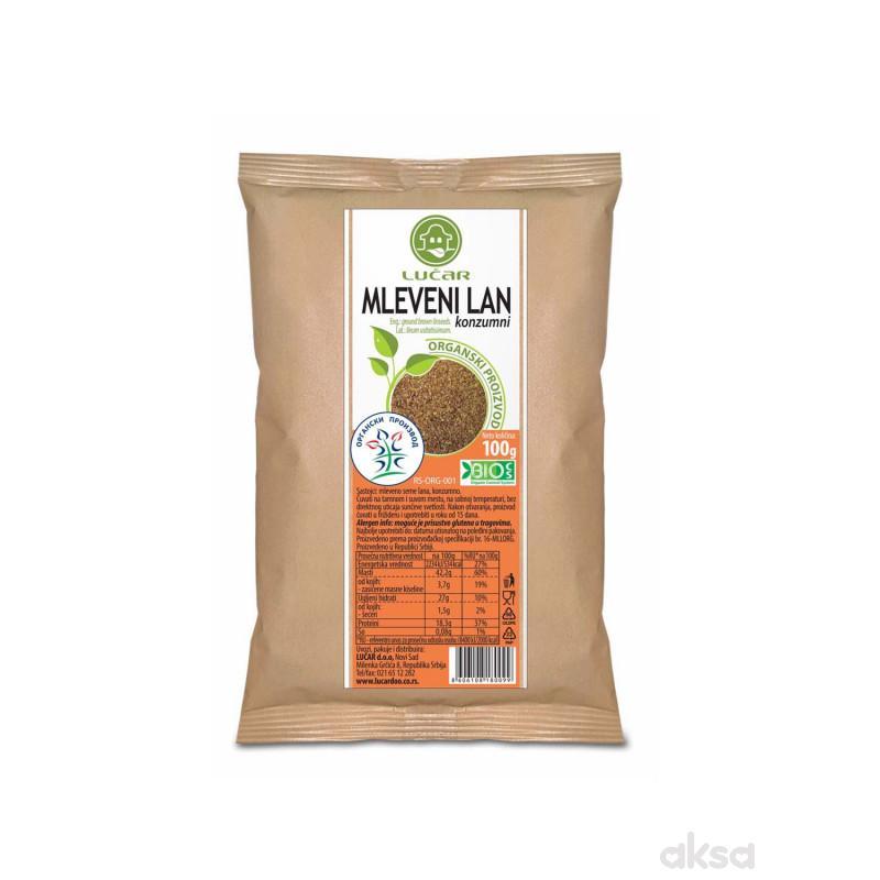 Lučar mleveni lan organik 100g