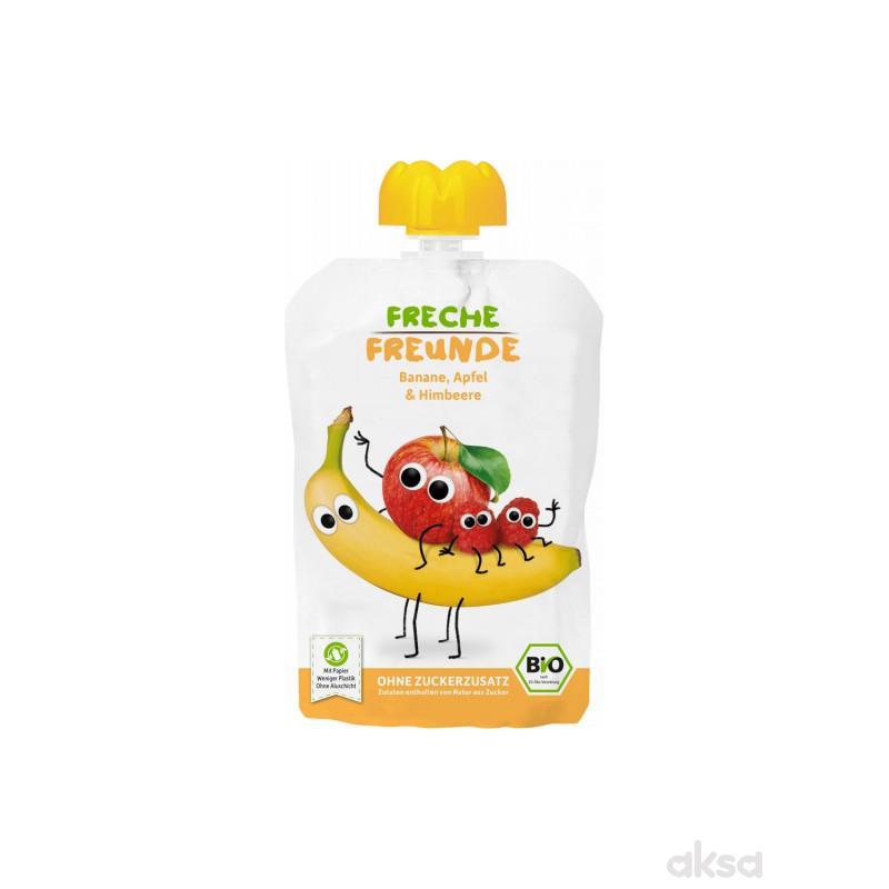 Freche organska kaša banana, jabuka, malina 100g