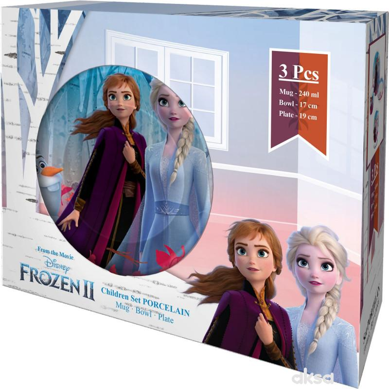 Frozen porcelanski set Frozen 3 psc