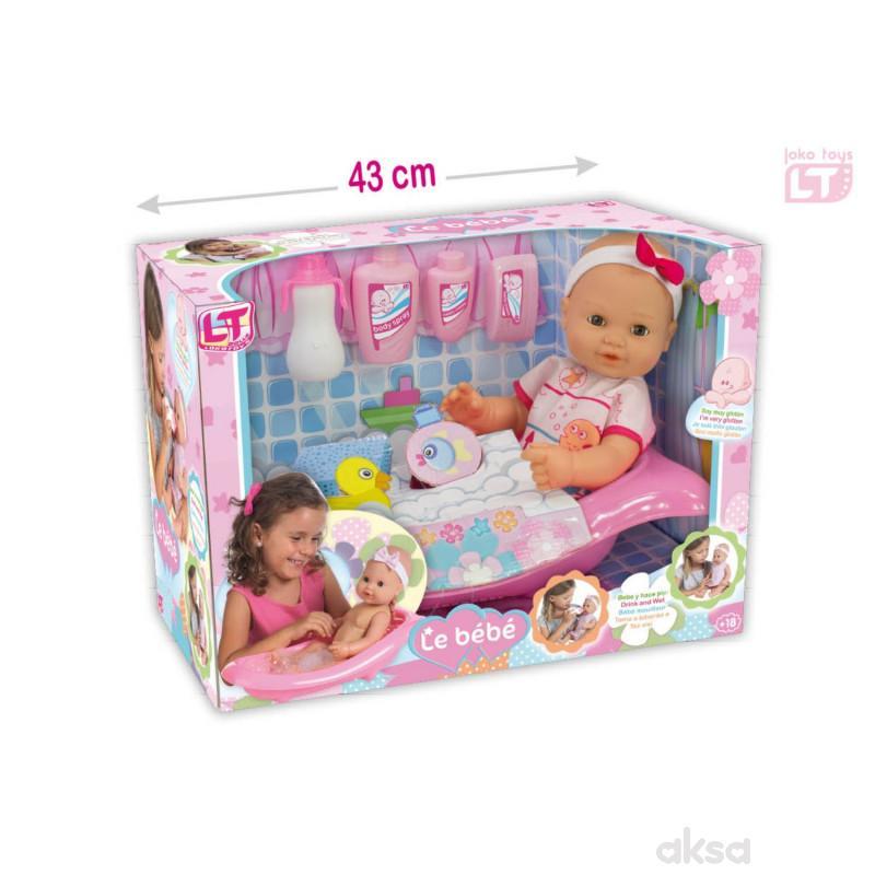 Loko toys, set - lutka beba spremna za kupanje