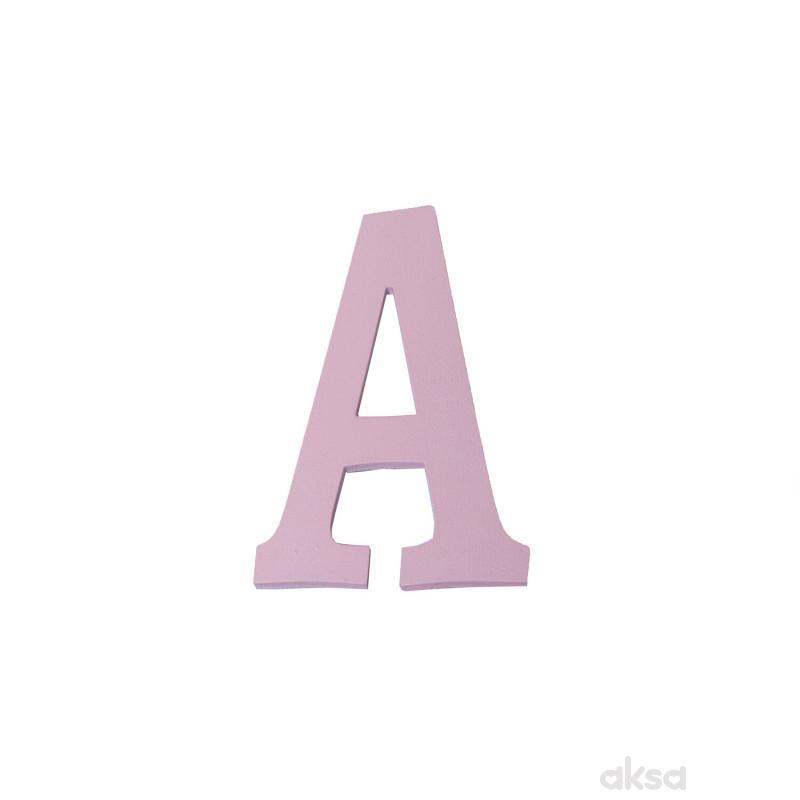 Drveno slovo A roze