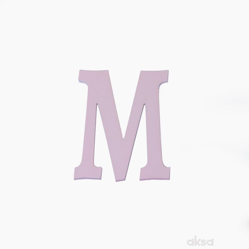 Drveno slovo M roze